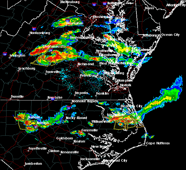 Radar Image for Severe Thunderstorms near Goochland, VA at 6/25/2015 8:36 PM EDT