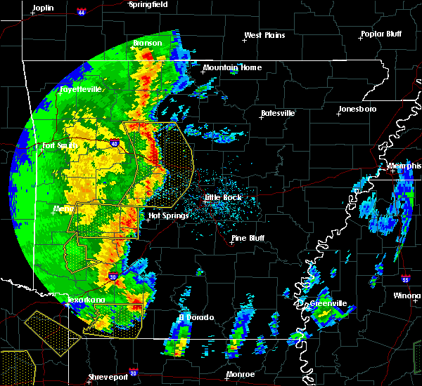 Radar Image for Severe Thunderstorms near Sparkman, AR at 4/12/2020 7:13 PM CDT