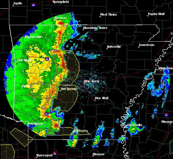 Radar Image for Severe Thunderstorms near Hector, AR at 4/12/2020 7:19 PM CDT