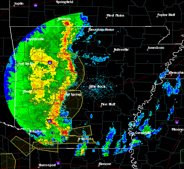 Radar Image for Severe Thunderstorms near Hector, AR at 4/12/2020 7:28 PM CDT