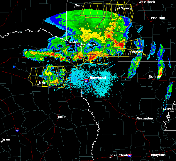 Radar Image for Severe Thunderstorms near Keachi, LA at 4/12/2020 7:32 PM CDT