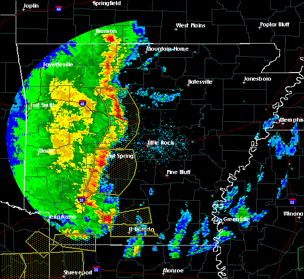 Radar Image for Severe Thunderstorms near Clinton, AR at 4/12/2020 7:36 PM CDT