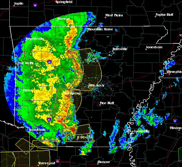 Radar Image for Severe Thunderstorms near Sparkman, AR at 4/12/2020 7:40 PM CDT