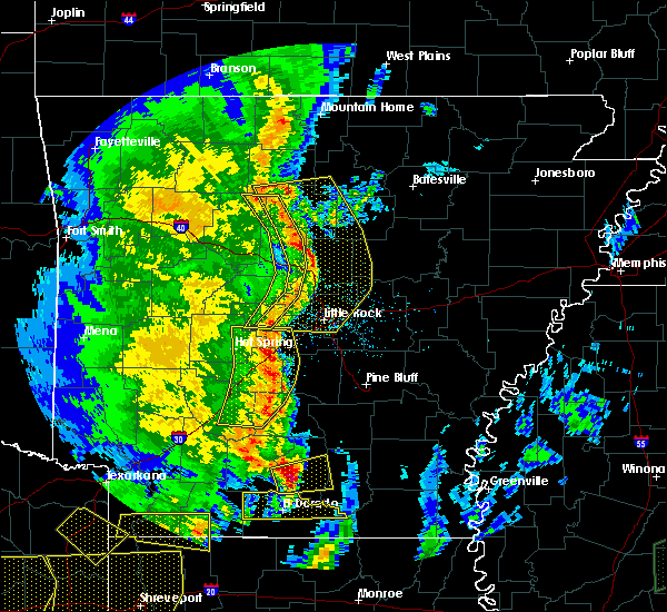 Radar Image for Severe Thunderstorms near Sparkman, AR at 4/12/2020 7:54 PM CDT
