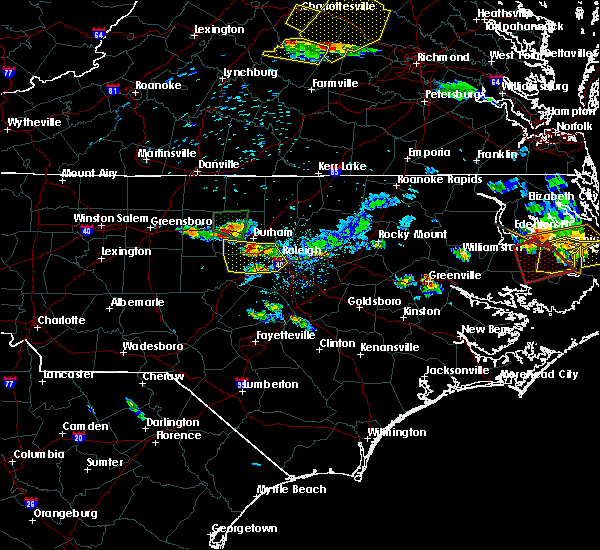 Radar Image for Severe Thunderstorms near Durham, NC at 6/25/2015 8:42 PM EDT