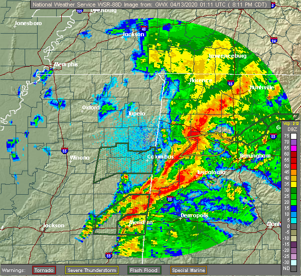 Radar Image for Severe Thunderstorms near Kansas, AL at 4/12/2020 8:18 PM CDT