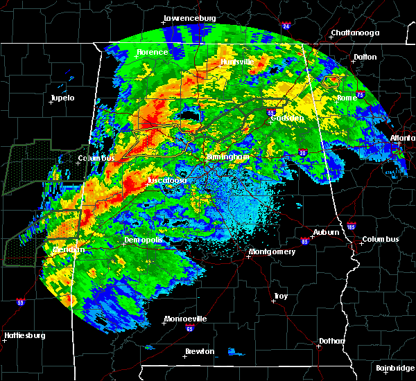 Radar Image for Severe Thunderstorms near Brookwood, AL at 4/12/2020 8:28 PM CDT