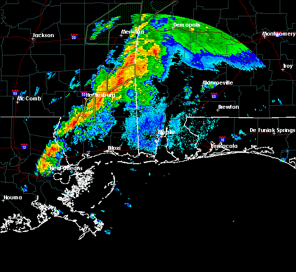 Radar Image for Severe Thunderstorms near Silas, AL at 4/12/2020 8:49 PM CDT
