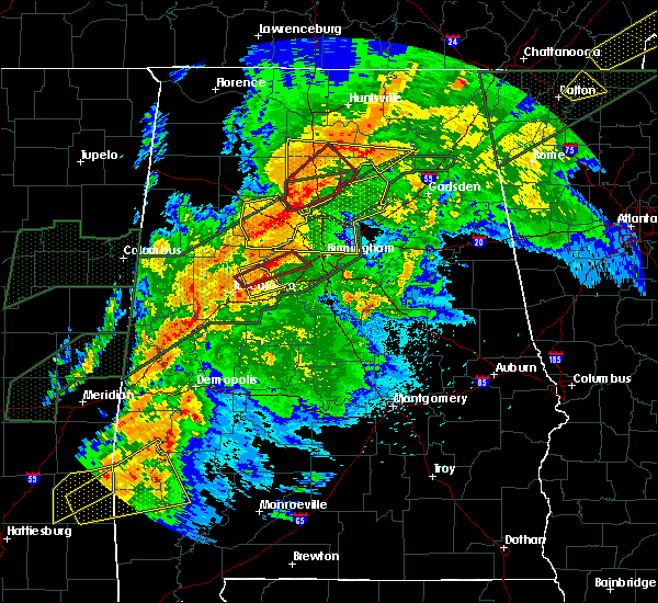 Radar Image for Severe Thunderstorms near Mulga, AL at 4/12/2020 8:54 PM CDT