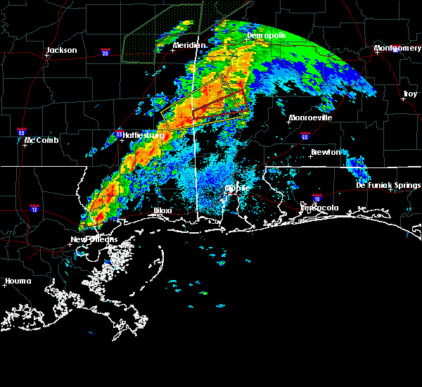 Radar Image for Severe Thunderstorms near Silas, AL at 4/12/2020 9:07 PM CDT