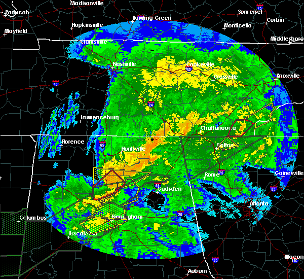 Radar Image for Severe Thunderstorms near Guntersville, AL at 4/12/2020 9:15 PM CDT