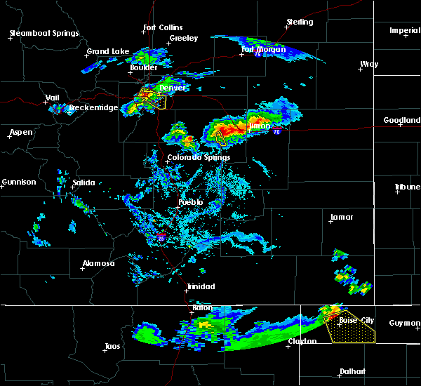 Radar Image for Severe Thunderstorms near Simla, CO at 6/25/2015 6:48 PM MDT
