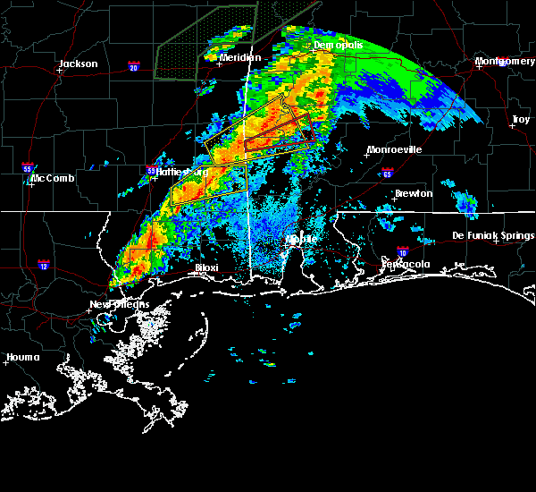 Radar Image for Severe Thunderstorms near Silas, AL at 4/12/2020 9:23 PM CDT