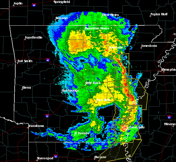 Radar Image for Severe Thunderstorms near Amagon, AR at 4/12/2020 9:25 PM CDT