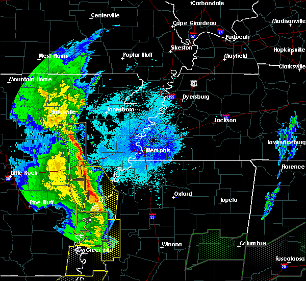 Radar Image for Severe Thunderstorms near Fisher, AR at 4/12/2020 9:28 PM CDT