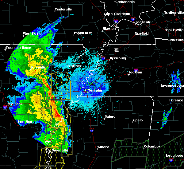 Radar Image for Severe Thunderstorms near Rondo, AR at 4/12/2020 9:34 PM CDT