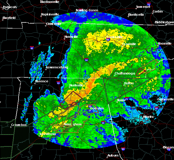 Radar Image for Severe Thunderstorms near Guntersville, AL at 4/12/2020 9:37 PM CDT