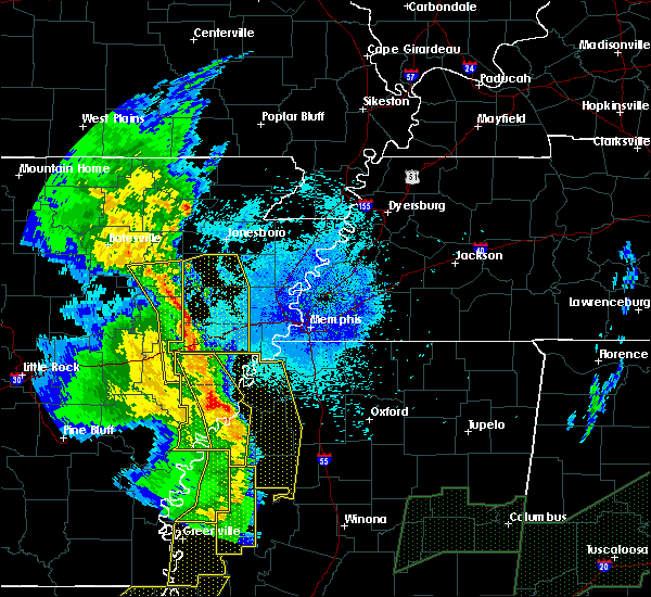 Radar Image for Severe Thunderstorms near Rondo, AR at 4/12/2020 9:39 PM CDT