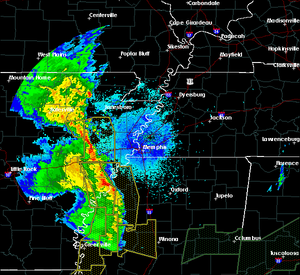 Radar Image for Severe Thunderstorms near Fisher, AR at 4/12/2020 9:47 PM CDT