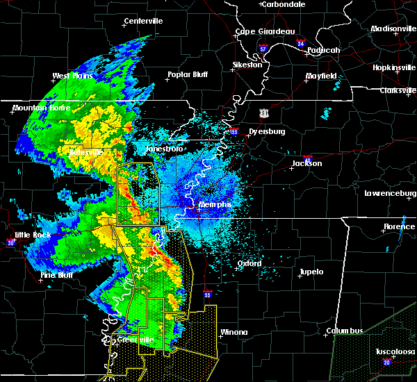 Radar Image for Severe Thunderstorms near Senatobia, MS at 4/12/2020 9:54 PM CDT
