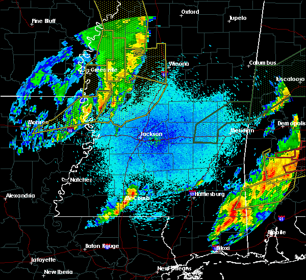 Radar Image for Severe Thunderstorms near Carrollton, MS at 4/12/2020 9:56 PM CDT