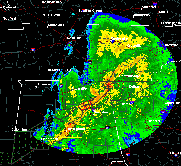 Radar Image for Severe Thunderstorms near Mowbray Mountain, TN at 4/12/2020 11:06 PM EDT