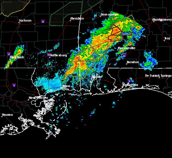 Radar Image for Severe Thunderstorms near Rockville, AL at 4/12/2020 10:09 PM CDT