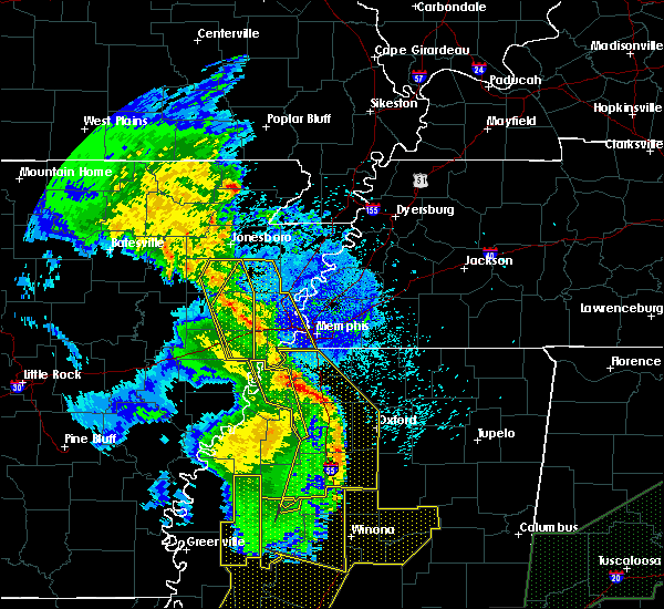 Radar Image for Severe Thunderstorms near Hughes, AR at 4/12/2020 10:14 PM CDT