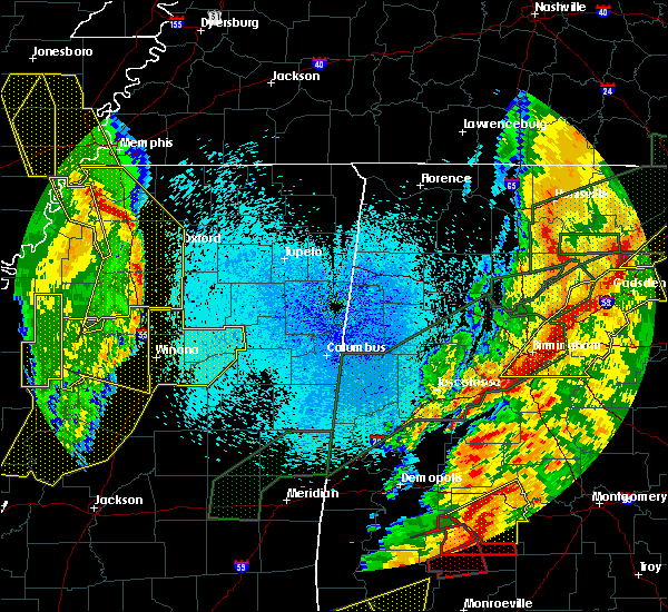 Radar Image for Severe Thunderstorms near Holly Springs, MS at 4/12/2020 10:16 PM CDT