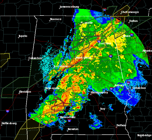 Radar Image for Severe Thunderstorms near Vredenburgh, AL at 4/12/2020 10:17 PM CDT