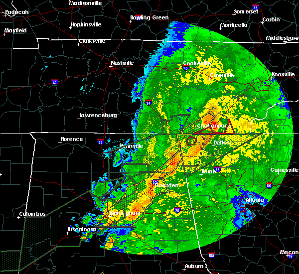 Radar Image for Severe Thunderstorms near Broomtown, AL at 4/12/2020 10:39 PM CDT