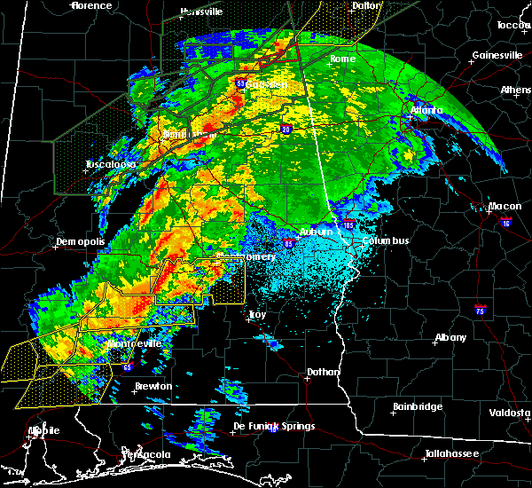 Radar Image for Severe Thunderstorms near Montgomery, AL at 4/12/2020 10:40 PM CDT