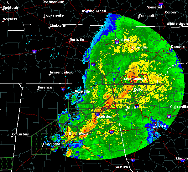 Radar Image for Severe Thunderstorms near Broomtown, AL at 4/12/2020 10:44 PM CDT