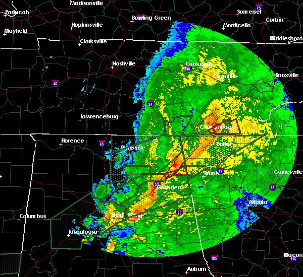 Radar Image for Severe Thunderstorms near Menlo, GA at 4/12/2020 11:43 PM EDT