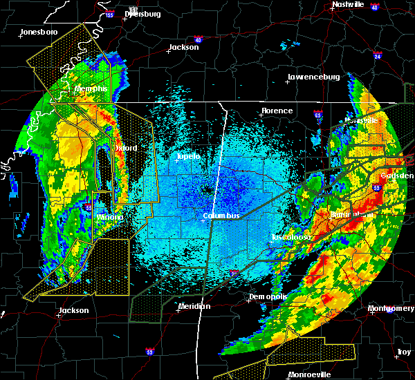 Radar Image for Severe Thunderstorms near Mississippi State, MS at 4/12/2020 10:43 PM CDT