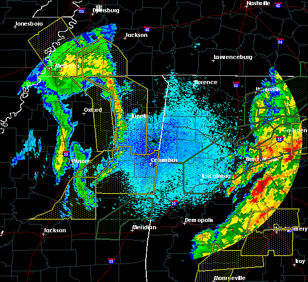 Radar Image for Severe Thunderstorms near Corinth, MS at 4/12/2020 11:01 PM CDT