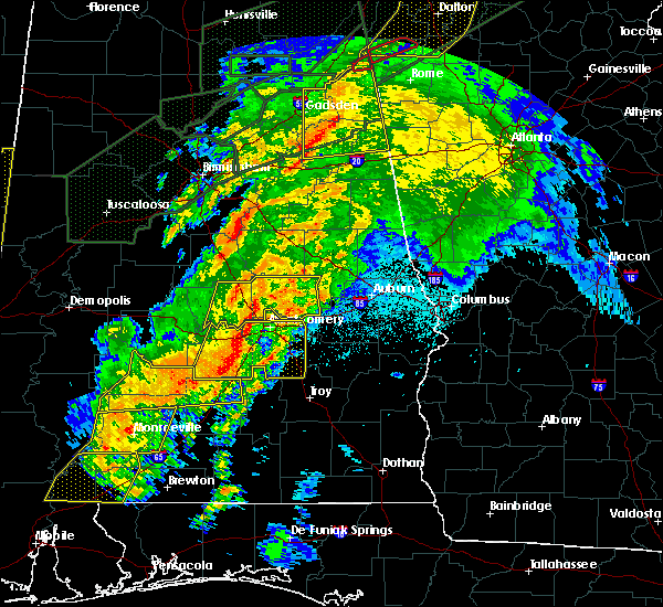 Radar Image for Severe Thunderstorms near Vincent, AL at 4/12/2020 11:02 PM CDT