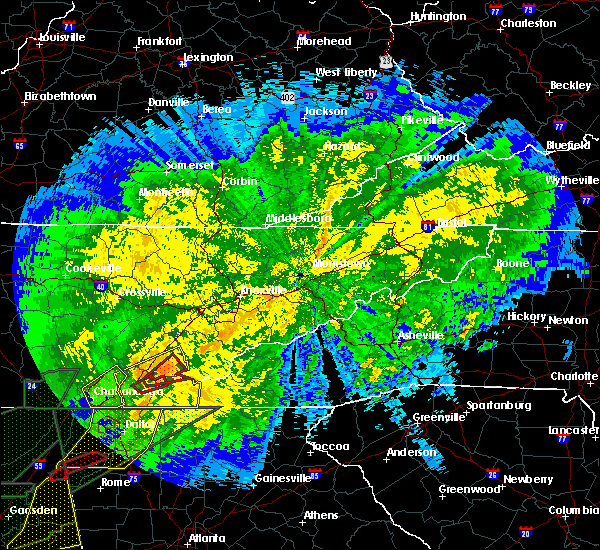 Radar Image for Severe Thunderstorms near Athens, TN at 4/13/2020 12:03 AM EDT