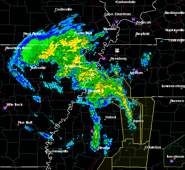 Radar Image for Severe Thunderstorms near Mason, TN at 4/12/2020 11:05 PM CDT