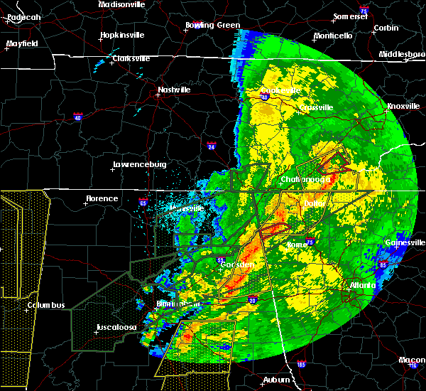 Radar Image for Severe Thunderstorms near Calhoun, GA at 4/13/2020 12:10 AM EDT