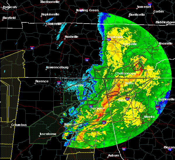 Radar Image for Severe Thunderstorms near Jacksonville, AL at 4/12/2020 11:14 PM CDT