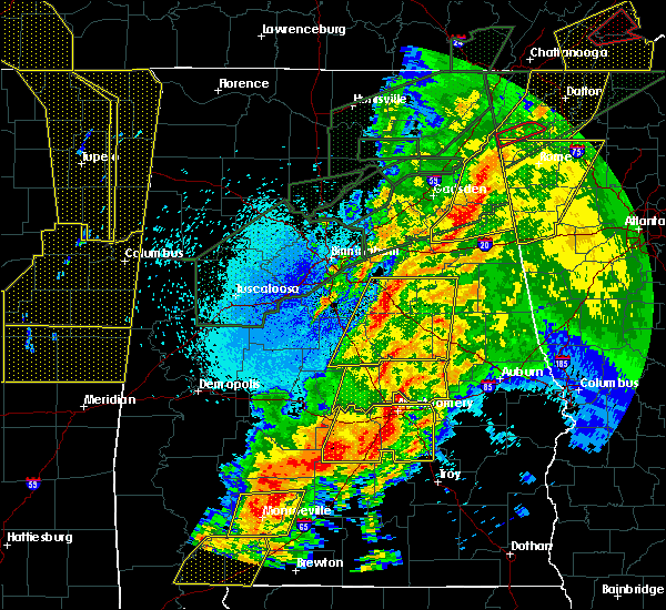Radar Image for Severe Thunderstorms near Vincent, AL at 4/12/2020 11:14 PM CDT