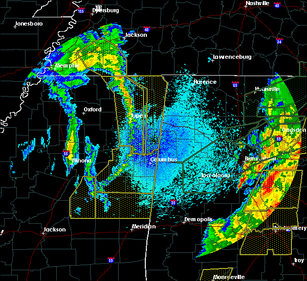 Radar Image for Severe Thunderstorms near Mississippi State, MS at 4/12/2020 11:14 PM CDT