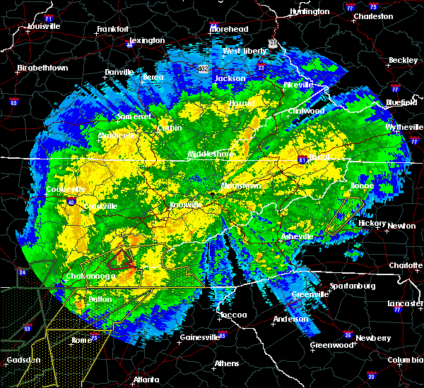 Radar Image for Severe Thunderstorms near Riceville, TN at 4/13/2020 12:19 AM EDT
