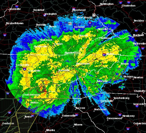 Radar Image for Severe Thunderstorms near Etowah, TN at 4/13/2020 12:20 AM EDT
