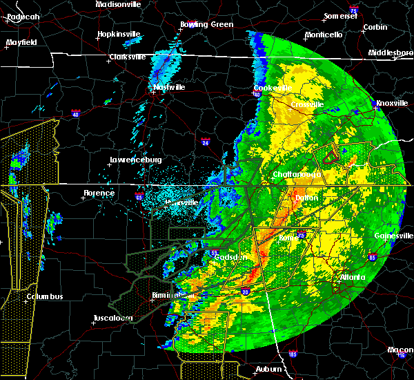 Radar Image for Severe Thunderstorms near Calhoun, GA at 4/13/2020 12:27 AM EDT