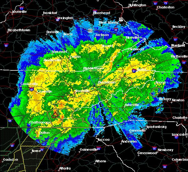 Radar Image for Severe Thunderstorms near Etowah, TN at 4/13/2020 12:29 AM EDT