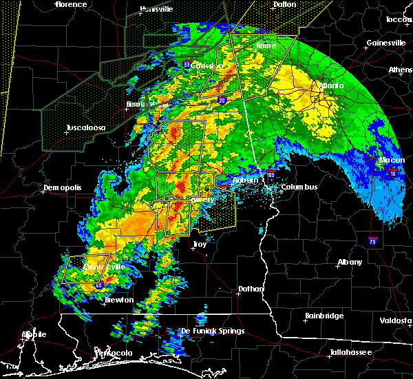 Radar Image for Severe Thunderstorms near Ladonia, AL at 4/12/2020 11:33 PM CDT