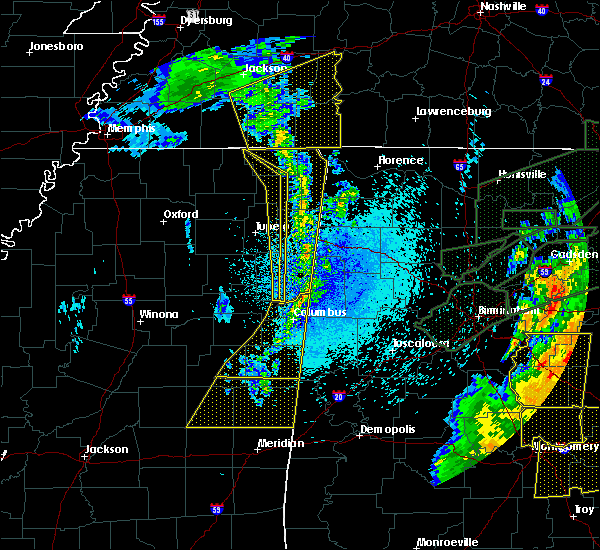 Radar Image for Severe Thunderstorms near Corinth, MS at 4/12/2020 11:36 PM CDT