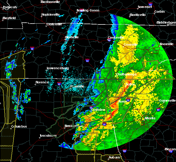 Radar Image for Severe Thunderstorms near Calhoun, GA at 4/13/2020 12:37 AM EDT